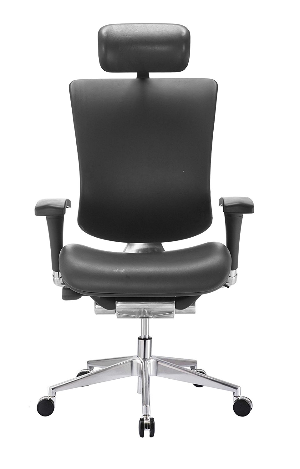 office chair genuine leather white. GM Seating Dreem III Leather Series Executive Hi Swivel Chair Chrome Base With Headrest, Genuine Office White E
